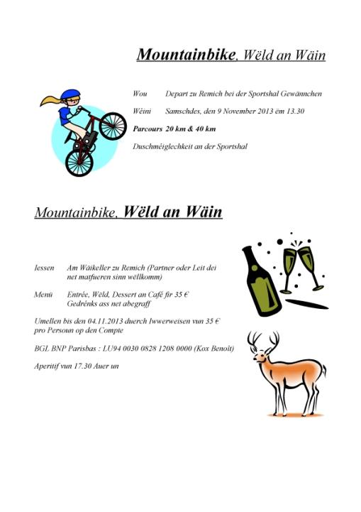 Mountainbike, Wëld an Wäin