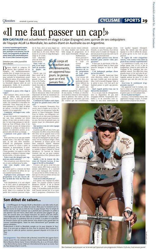 Le Quotidien, Ausgabe: Le Quotidien, vom: Freitag, 17. Januar 20