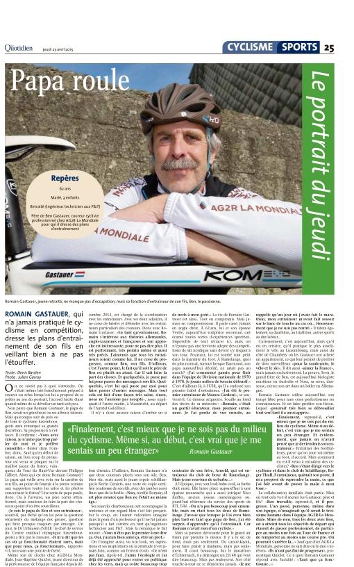 Le Quotidien, Ausgabe: Le Quotidien, vom: Donnerstag, 23. April