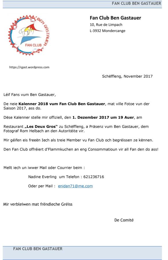 Invitation Presentation Kalenner 2018