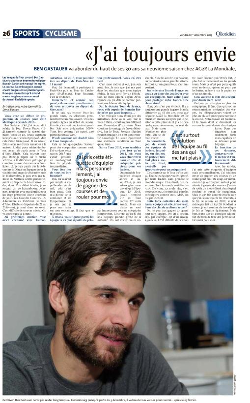 Le Quotidien, Ausgabe: Le Quotidien, vom: Freitag, 1. Dezember 2