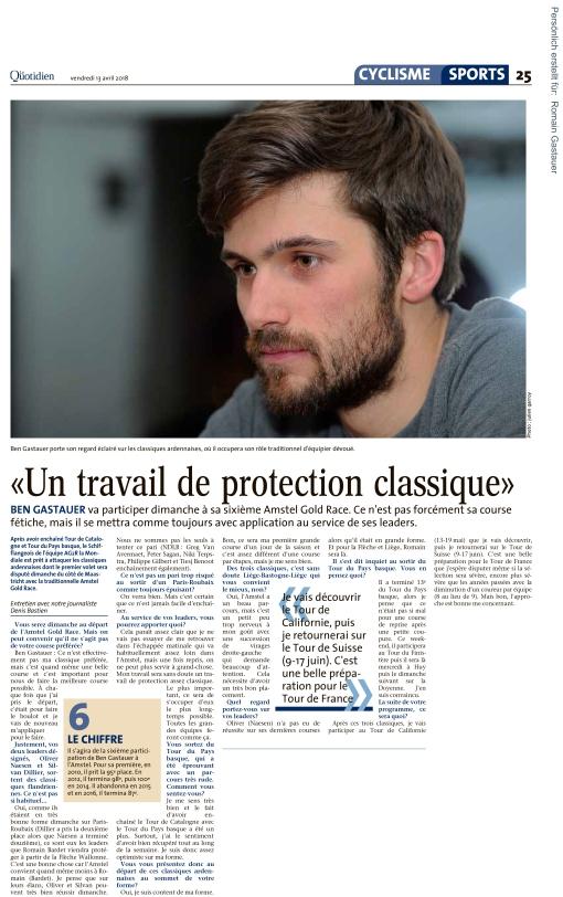 Le Quotidien, Ausgabe: Le Quotidien, vom: Freitag, 13. April 201