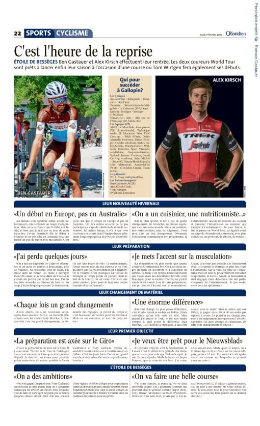 Le Quotidien, Ausgabe: Le Quotidien, vom: Donnerstag, 7. Februar