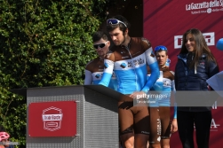 SIENA, ITALY - MARCH 09: Start / Podium / Ben Gastauer of Luxemburg and Team AG2R La Mondiale / Signature / during the Eroica - 13th Strade Bianche 2019 a 184km race from Siena to Siena-Piazza del Campo / @StradeBianche / on March 09, 2019 in Siena, Italy. (Photo by Tim de Waele/Getty Images)